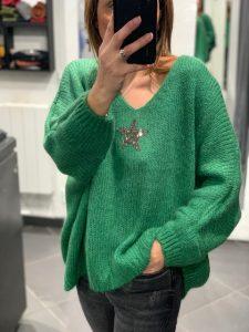 Pull ETOILE Vert Gucci